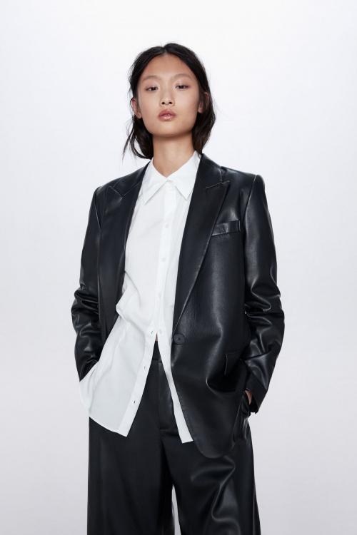 Zara - Veste en simili cuir