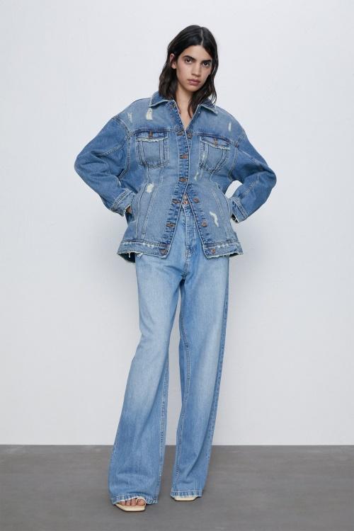 Zara - Veste en jean oversized