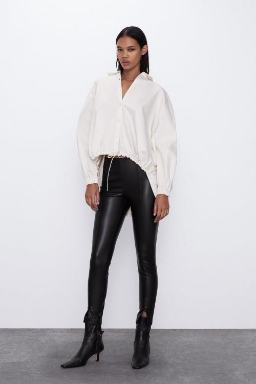 Zara - Leggings en simili cuir