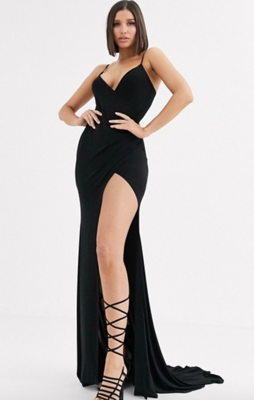 Club L London - Robe longue fendue
