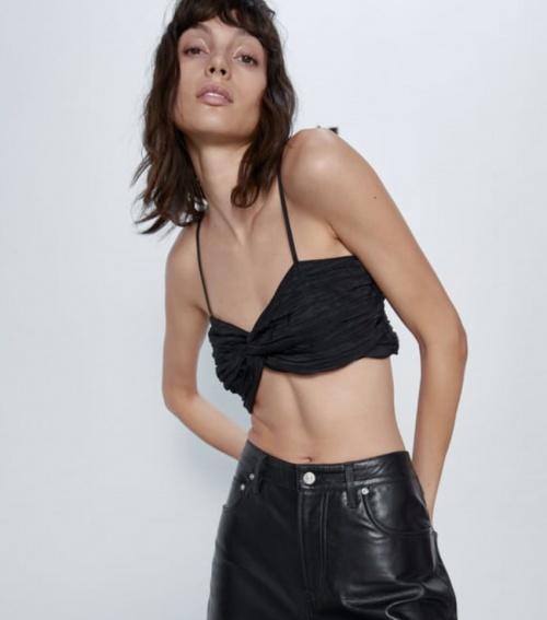 Zara - Top court à bretelles