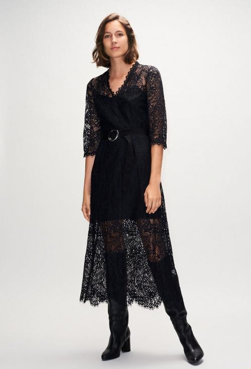 Claudie Pierlot - Robe longue dentelle