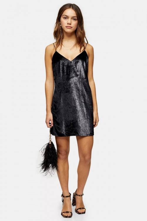 Topshop - Petite robe noire à paillettes