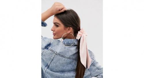 Blush - Foulard à cheveux imitation satin avec nœud