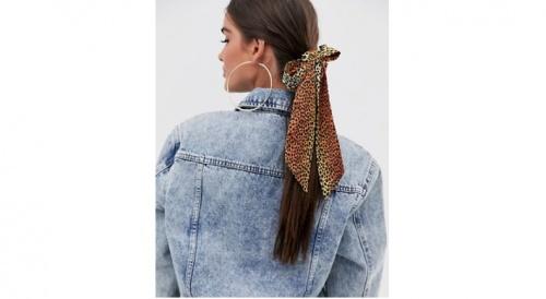 Asos - Foulard à cheveux imprimé animal
