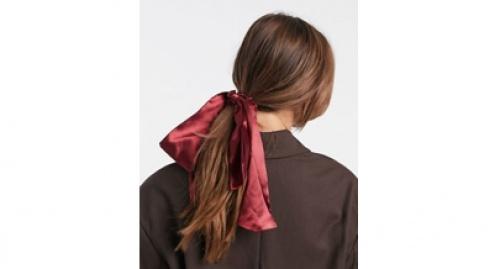 Asos - Foulard à cheveux en satin - Bordeaux