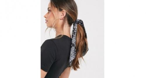 Asos - Foulard à cheveux à imprimé bandana - Noir
