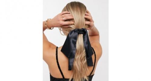 Asos - Foulard à cheveux - Satin noir