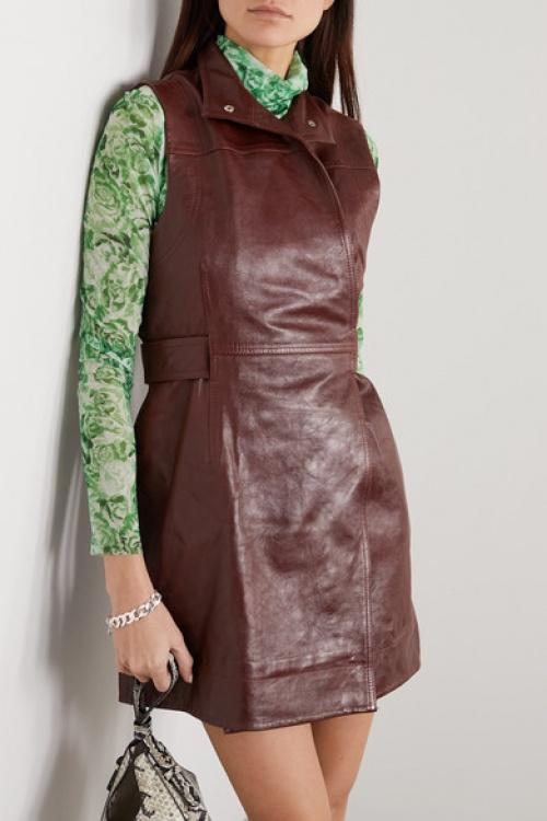 Ganni - Robe en cuir
