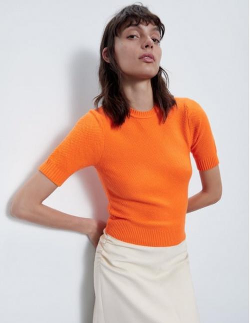 Zara - T-shirt col rond
