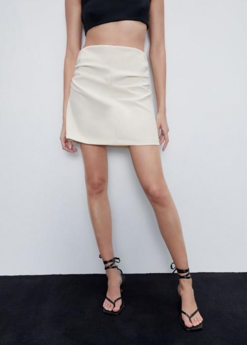 Zara - Mini jupe froncée