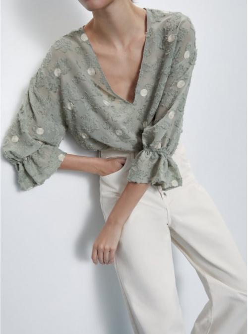 Zara - Chemise bimatière