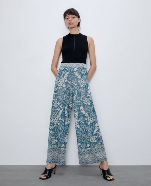 Zara - Pantalon jacquard