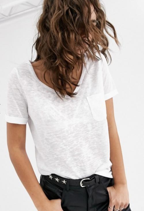 Object - T-shirt blanc en lin
