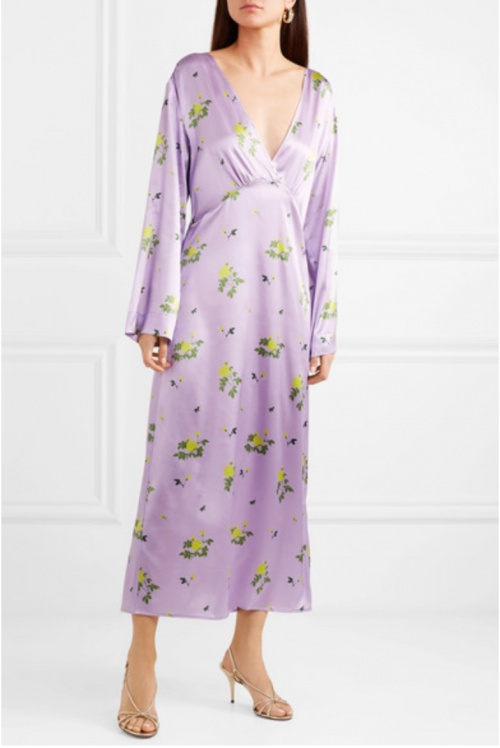 BERNADETTE - Robe satinée pastel
