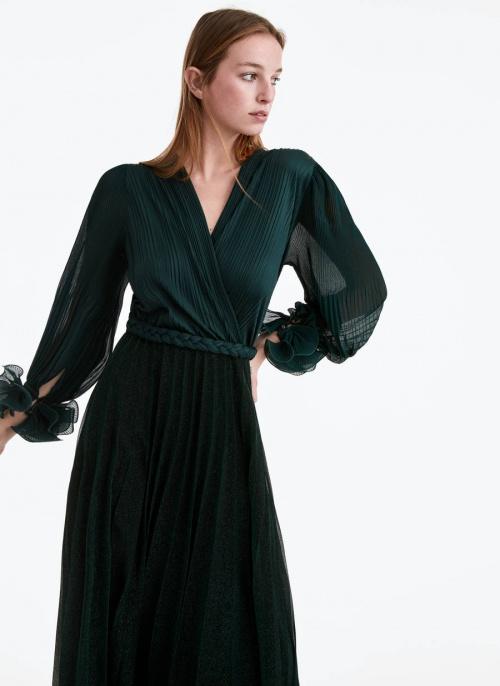 Uterqüe - Robe longue plisée