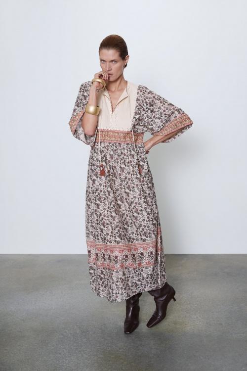 Zara - Robe à coquillage