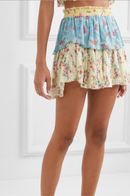 Loveshackfancy - Mini-jupe imprimée
