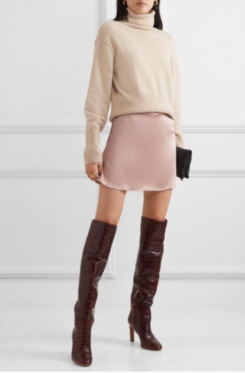 Reformation - Mini-jupe satinée