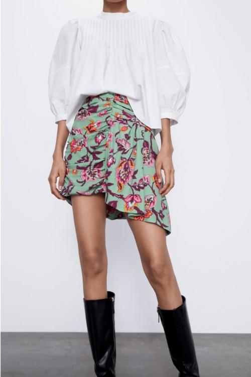 Zara - Mini-jupe imprimée