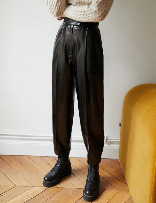 Pixie Market - Pantalon en cuir