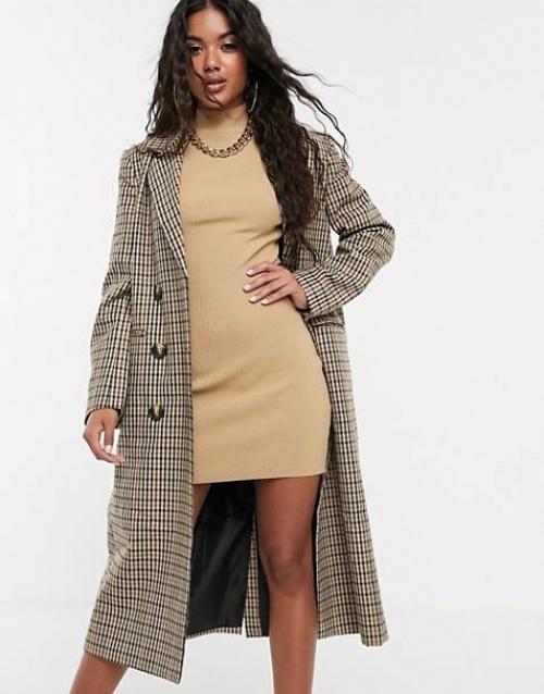 ASOS DESIGN - Manteau à carreaux