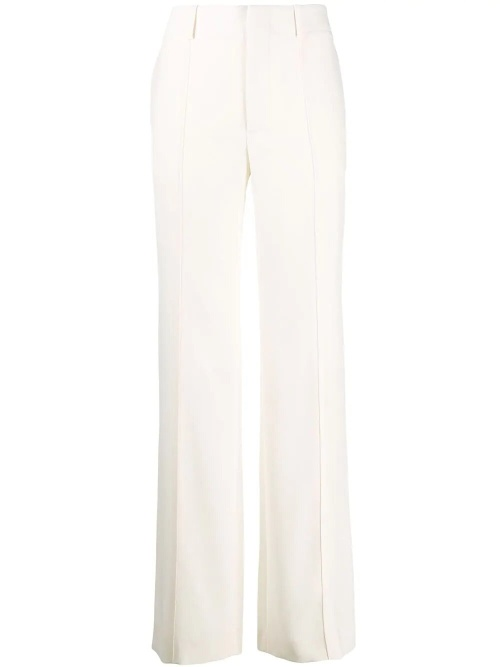 Chloé - Pantalon flare blanc