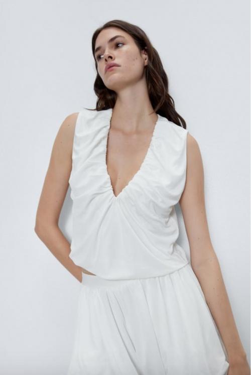 Zara - Top drapé