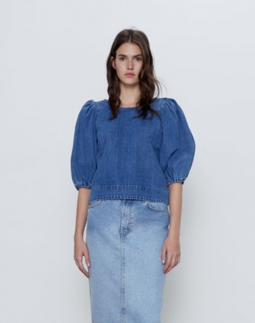 Zara - Top manches bouffantes