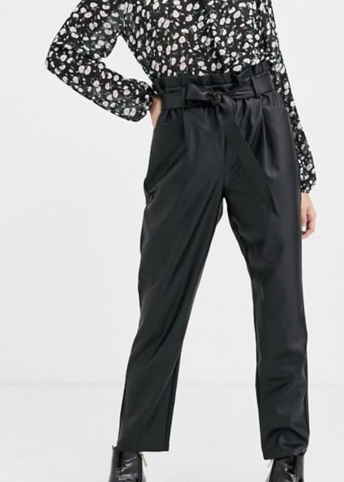 Miss Selfridge - Pantalon simili cuir