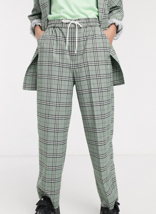 COLLUSION - Pantalon à carreaux