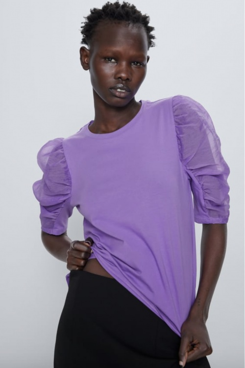 Zara - Top manches organza