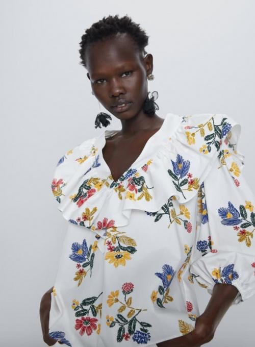 Zara - Blouse en popeline