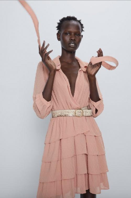 Zara - Robe plumetis