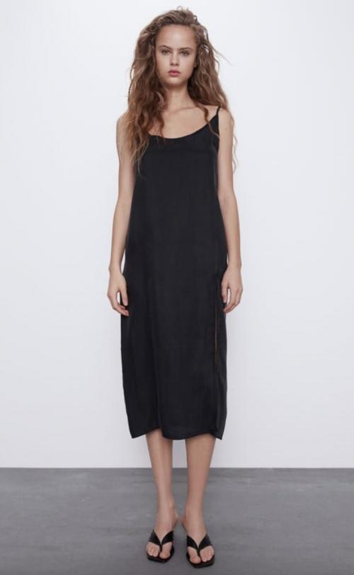 Zara - Robe nuisette fendue