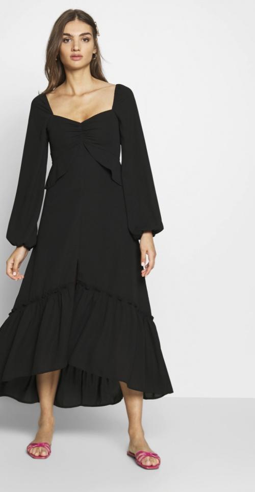 Who What Wear - Robe noire à volants