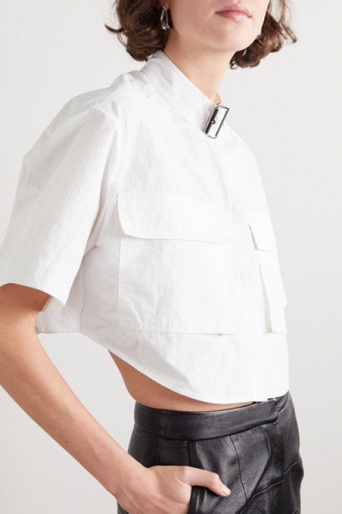 WE11DONE - Chemise cropped