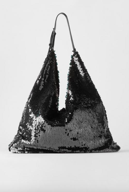 Zara - Sac porté épaule paillettes