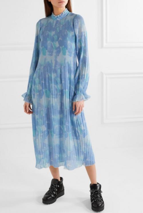 GANNI - Robe longue imprimée