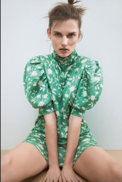 Zara - Robe en jacquard
