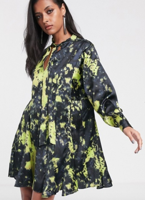 Asos Design - Robe babydoll tie&dye