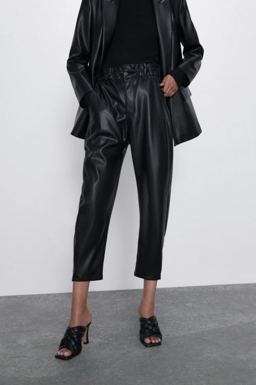 Zara - Pantalon cuir
