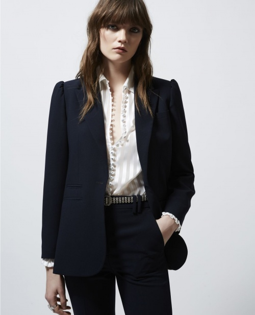 The Kooples - Veste de tailleur bleue marine