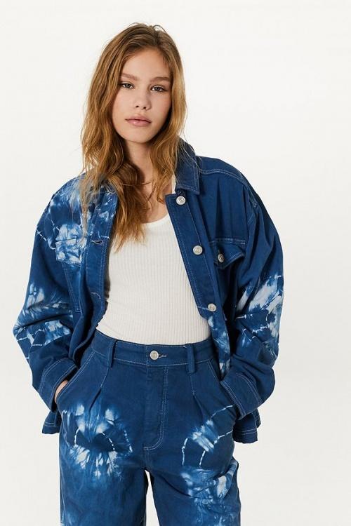 Urban Outfitters - Veste en jean tie & dye