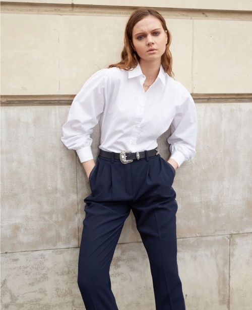 The Kooples - Pantalon bleu marine