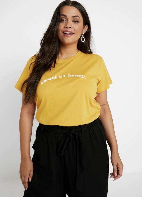 Cotton On Curve - T-shrit jaune