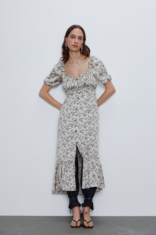 Zara - Robe en satin
