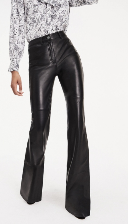 Tommy Hilfiger - Pantalon cuir flare