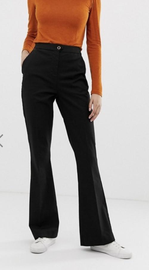 Asos - Pantalon flare noir