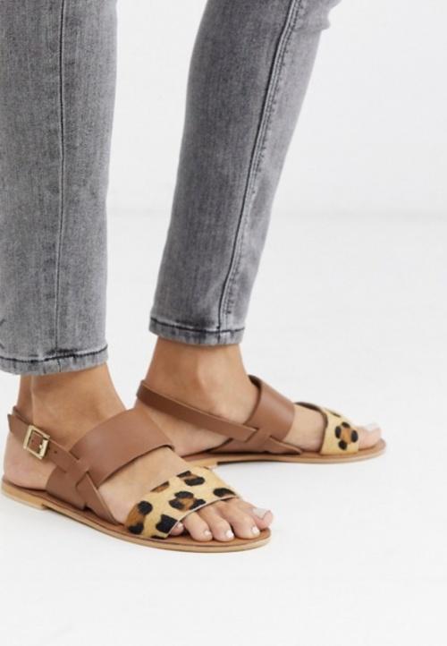 Asos - Sandales léopard